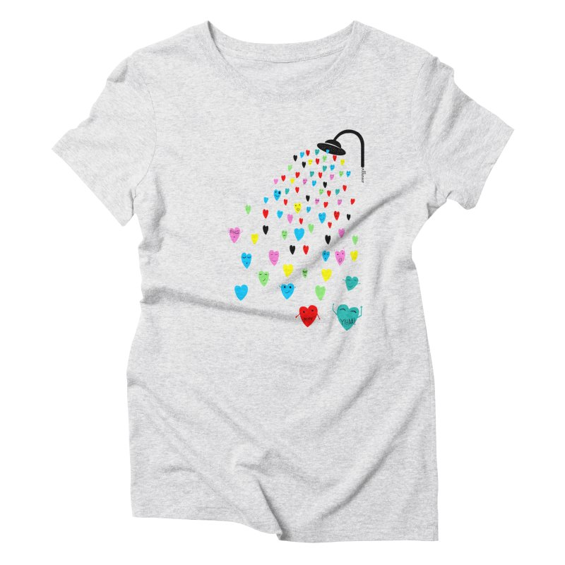 Love Shower Women's Triblend T-Shirt by villaraco's Artist Shop