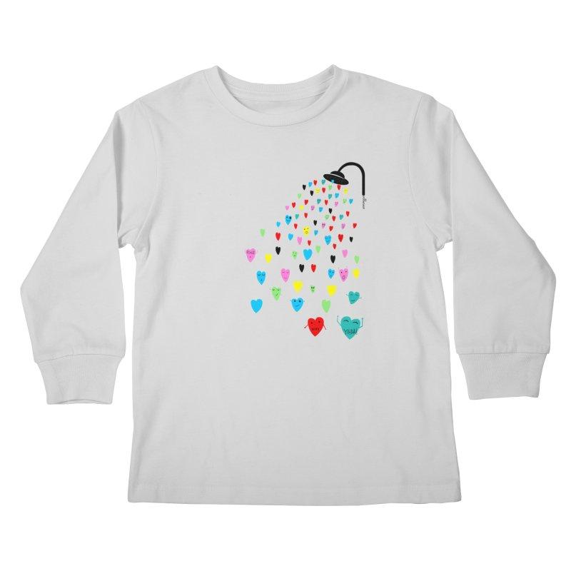 Love Shower Kids Longsleeve T-Shirt by villaraco's Artist Shop