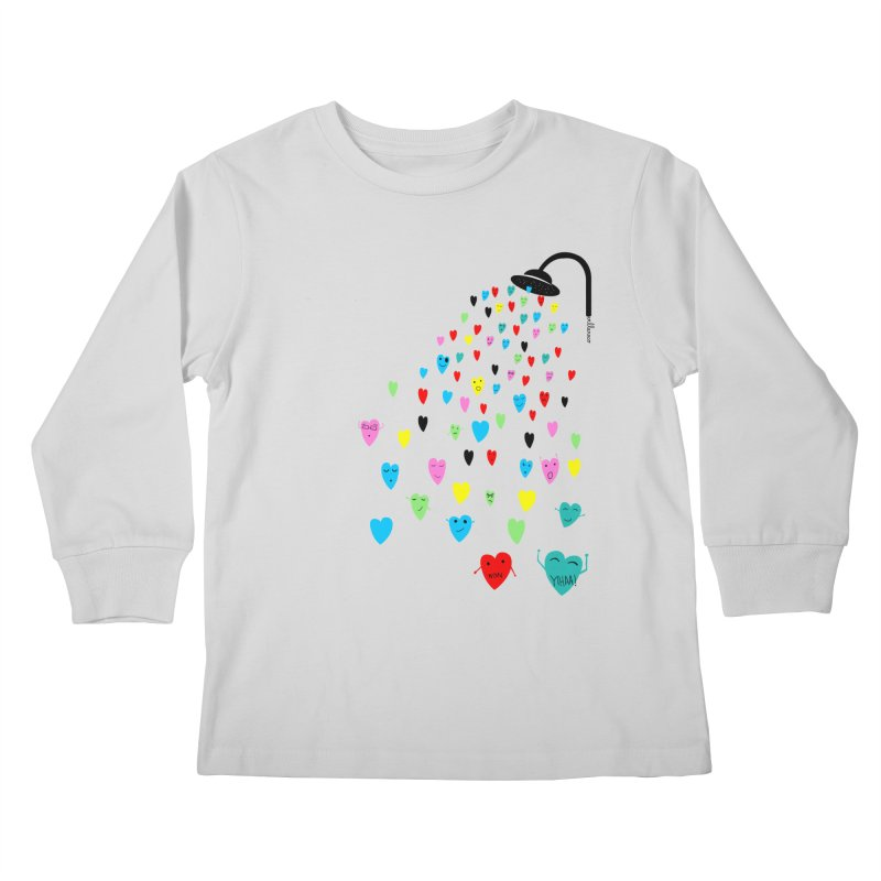 Love Shower Kids Longsleeve T-Shirt by villaraco's Artist Shop