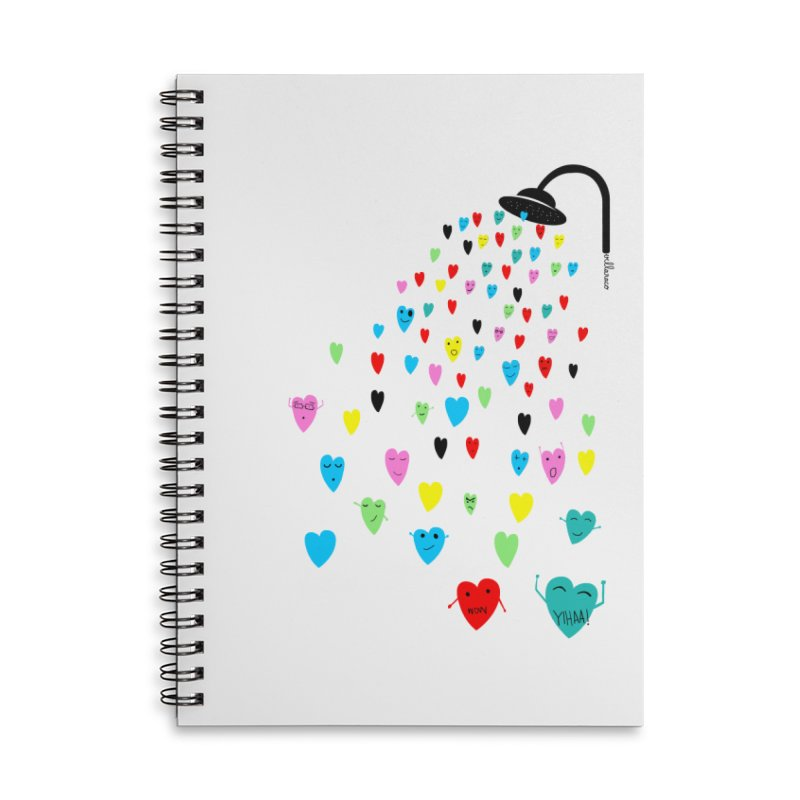 Love Shower Accessories Lined Spiral Notebook by villaraco's Artist Shop