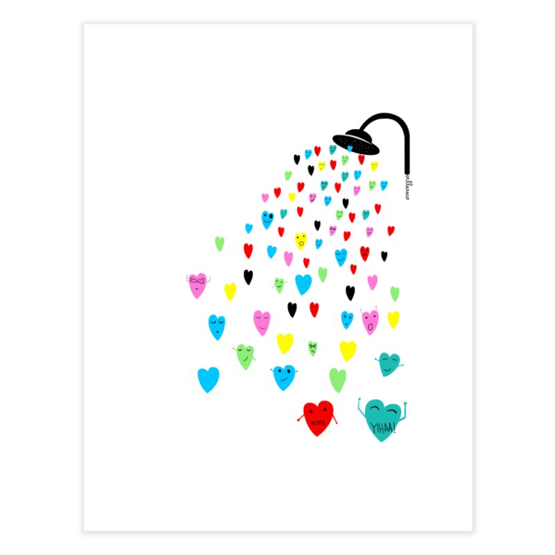 Love Shower Home Fine Art Print by villaraco's Artist Shop