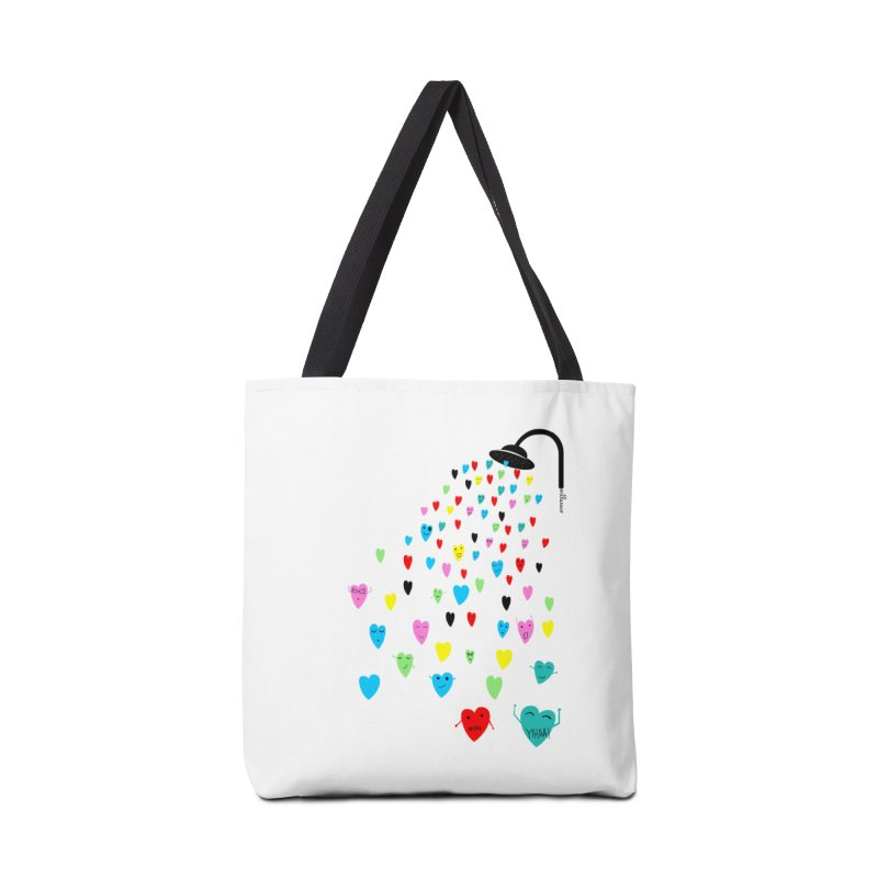 Love Shower Accessories Tote Bag Bag by villaraco's Artist Shop