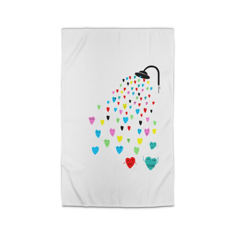 Love Shower Home Rug by villaraco's Artist Shop