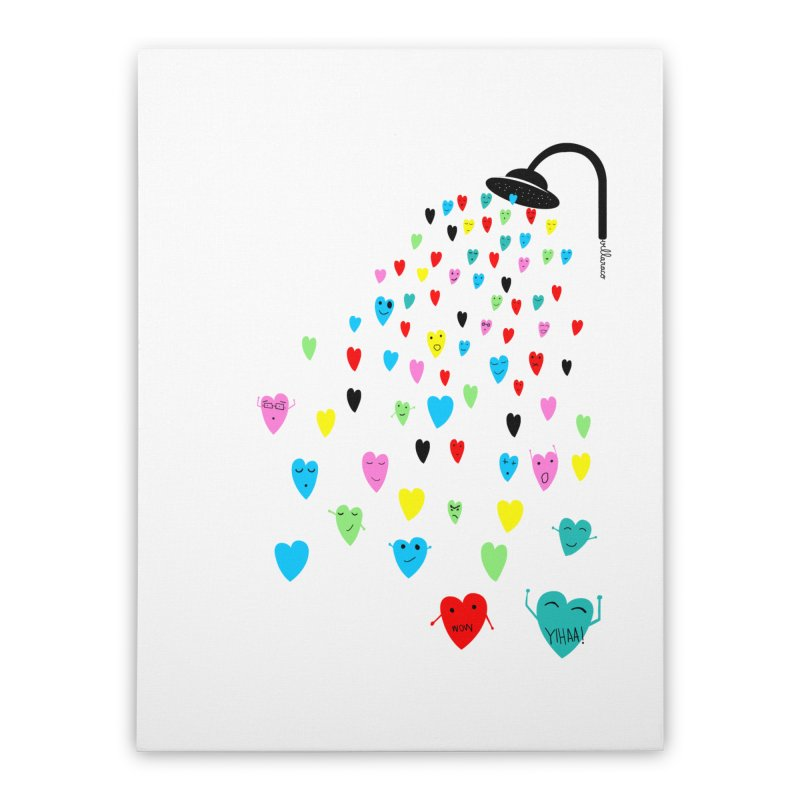 Love Shower Home Stretched Canvas by villaraco's Artist Shop