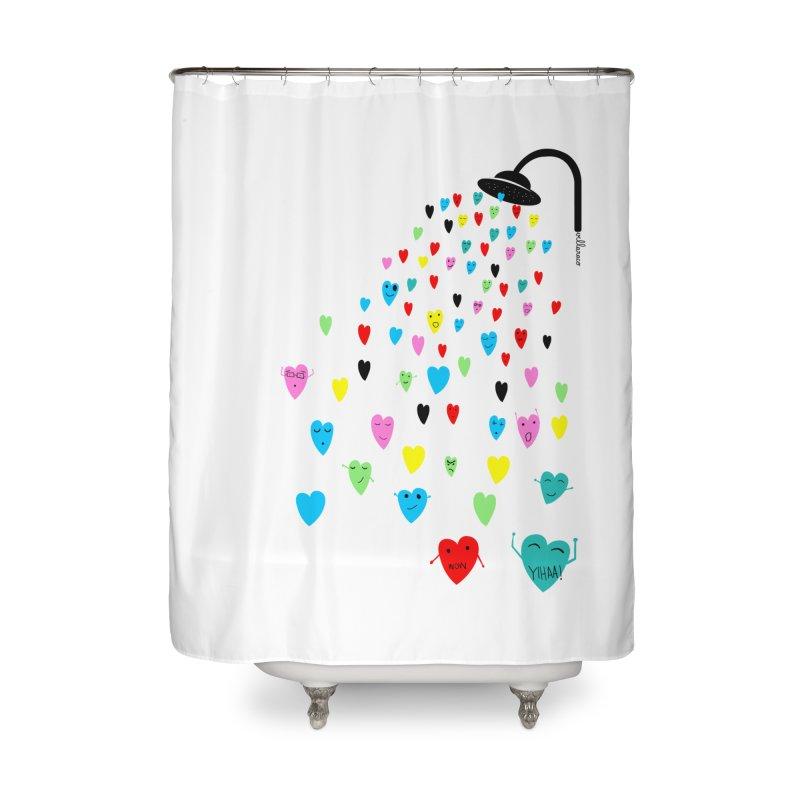 Love Shower Home Shower Curtain by villaraco's Artist Shop