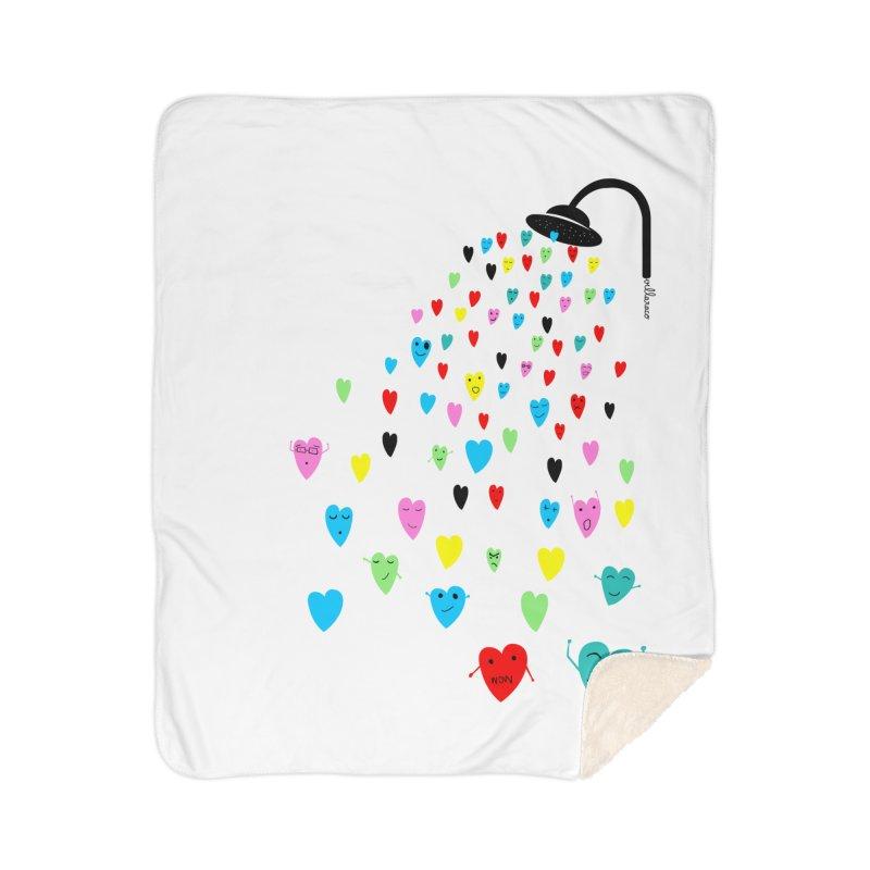 Love Shower Home Sherpa Blanket Blanket by villaraco's Artist Shop