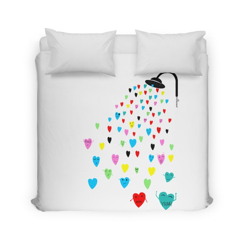 Love Shower Home Duvet by villaraco's Artist Shop