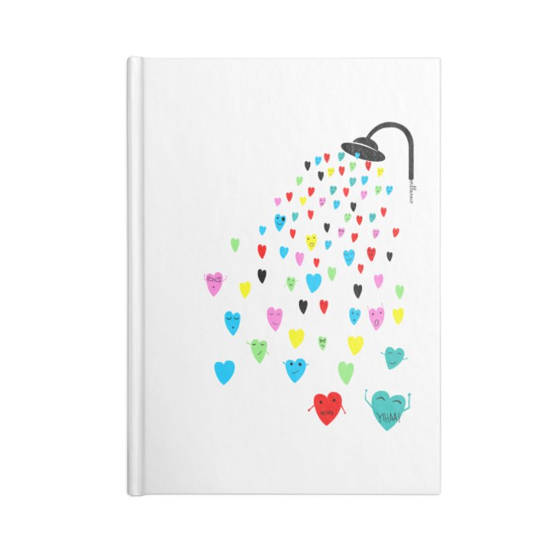 Love Shower Accessories Notebook by villaraco's Artist Shop