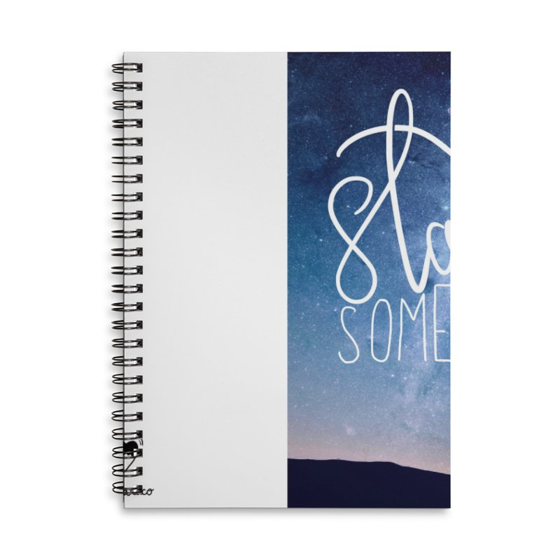 Start Something Accessories Lined Spiral Notebook by villaraco's Artist Shop