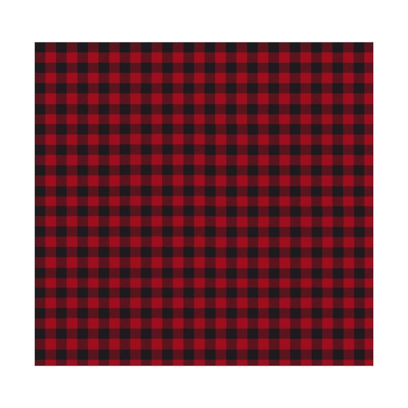 Red lumberjack plaid Home Duvet by VILLET TREND