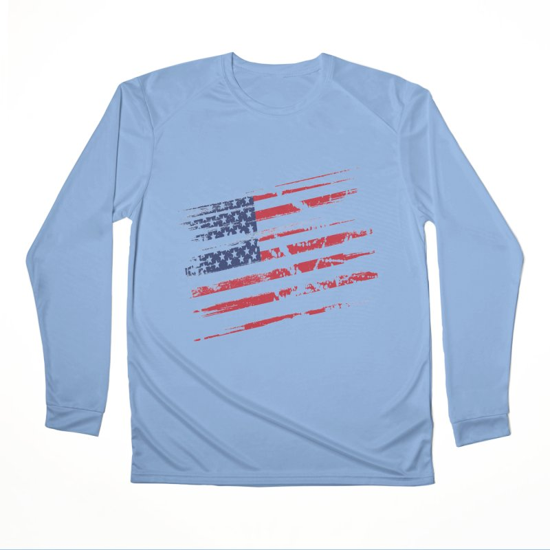 American flag Men's Longsleeve T-Shirt by VILLET TREND