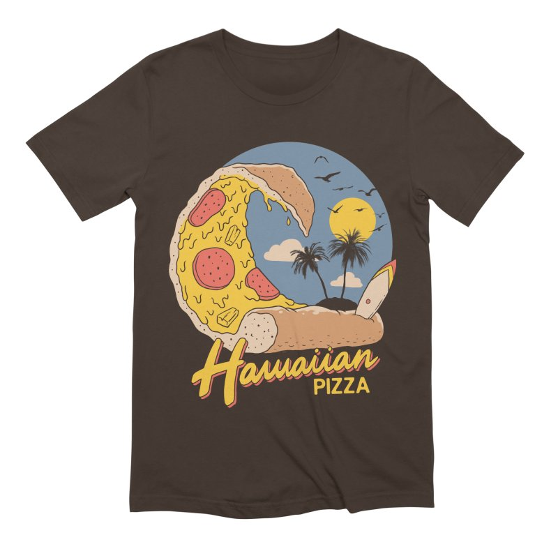 Hawaiian Pizza Men's Extra Soft T-Shirt by Vincent Trinidad Art