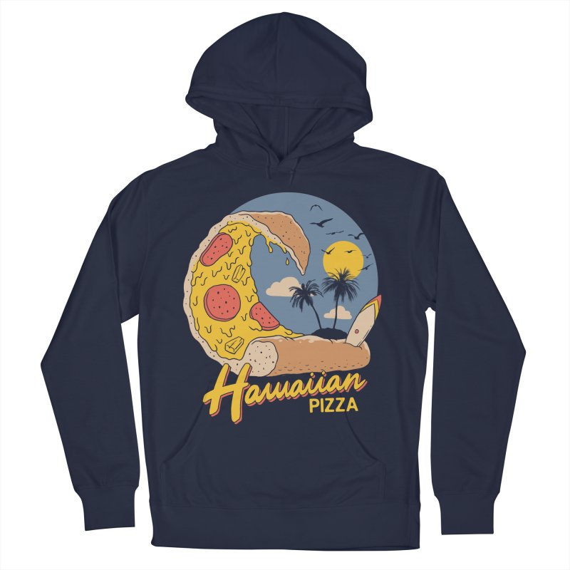Hawaiian Pizza Men's French Terry Pullover Hoody by Vincent Trinidad Art