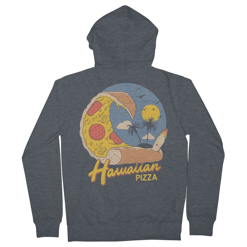 Hawaiian Pizza Women's French Terry Zip-Up Hoody by Vincent Trinidad Art
