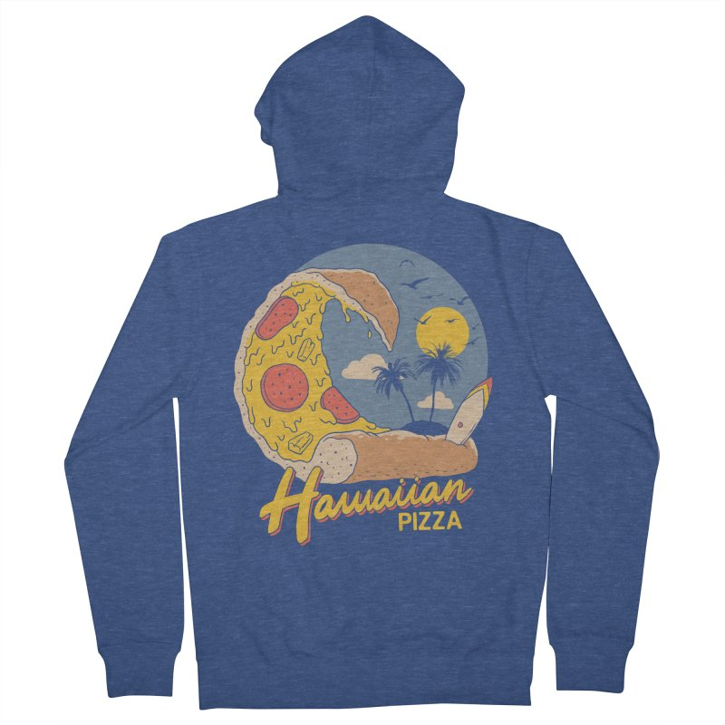 Hawaiian Pizza Men's French Terry Zip-Up Hoody by Vincent Trinidad Art
