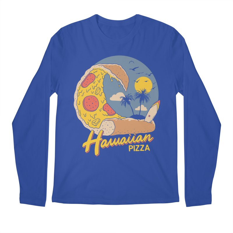Hawaiian Pizza Men's Regular Longsleeve T-Shirt by Vincent Trinidad Art