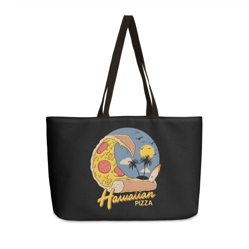 Hawaiian Pizza Accessories Weekender Bag Bag by Vincent Trinidad Art