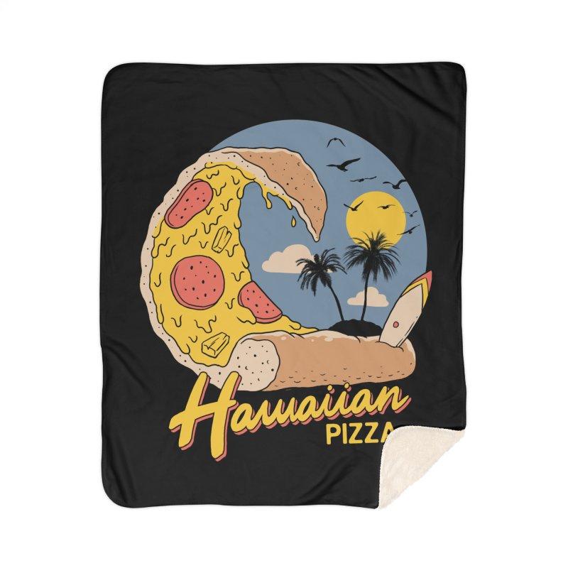 Hawaiian Pizza Home Sherpa Blanket Blanket by Vincent Trinidad Art