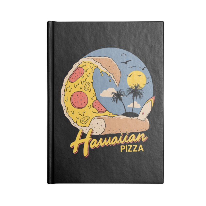 Hawaiian Pizza Accessories Blank Journal Notebook by Vincent Trinidad Art