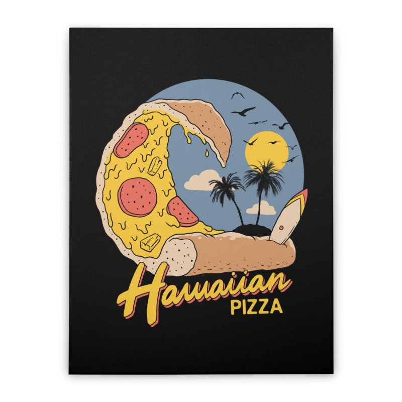 Hawaiian Pizza Home Stretched Canvas by Vincent Trinidad Art