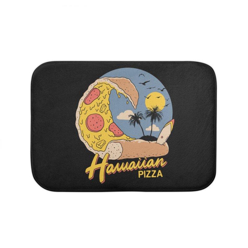 Hawaiian Pizza Home Bath Mat by Vincent Trinidad Art