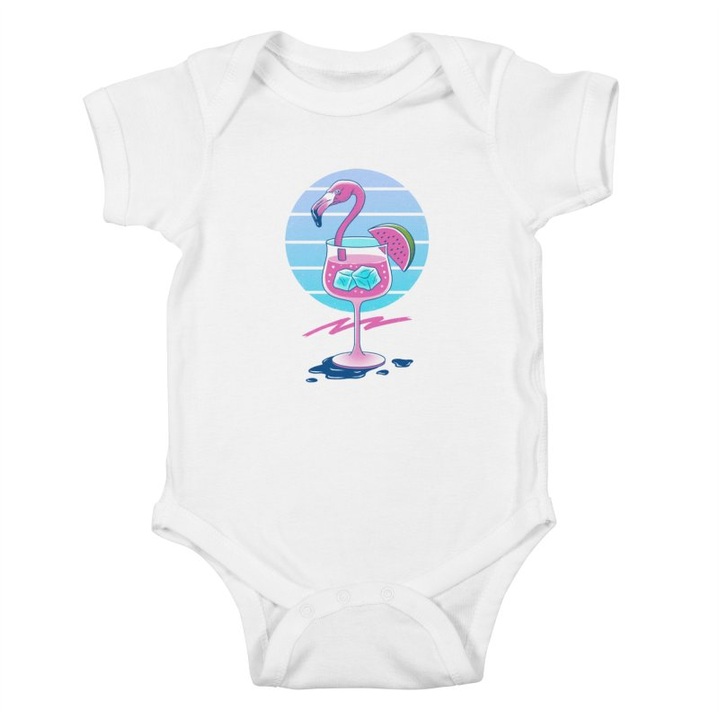 Tropical Chill Wave Kids Baby Bodysuit by Vincent Trinidad Art