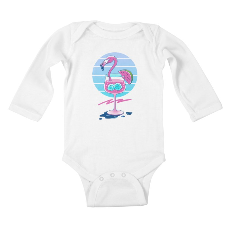 Tropical Chill Wave Kids Baby Longsleeve Bodysuit by Vincent Trinidad Art