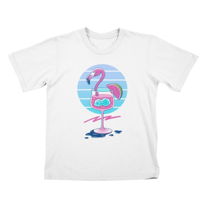 Tropical Chill Wave Kids T-Shirt by Vincent Trinidad Art