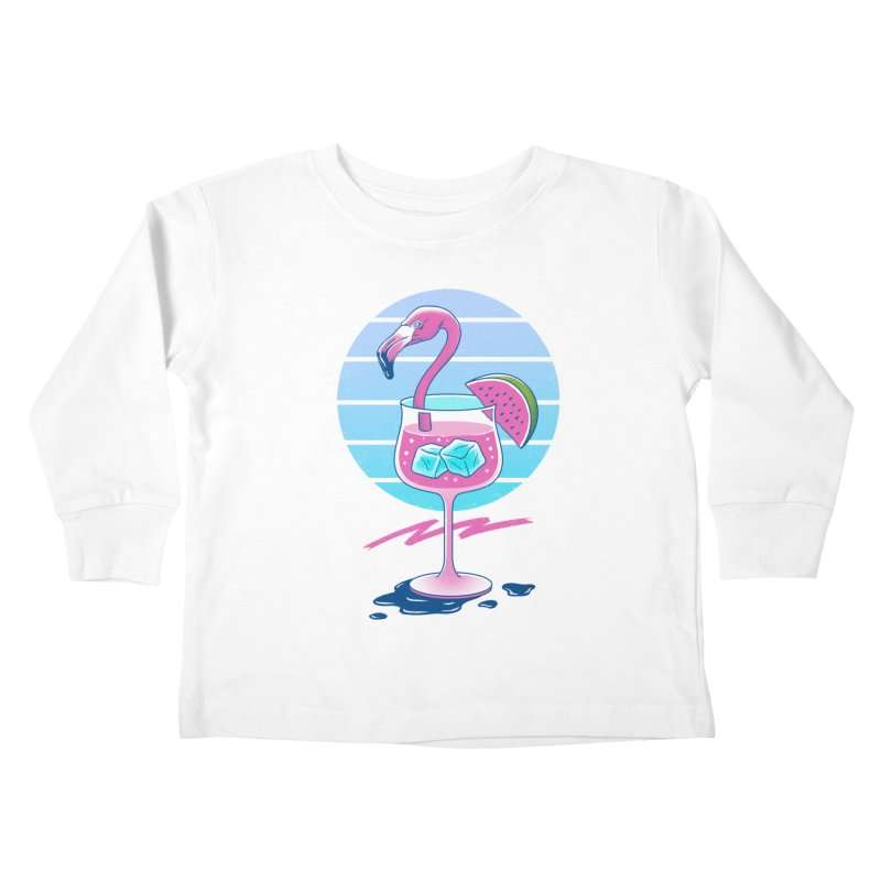 Tropical Chill Wave Kids Toddler Longsleeve T-Shirt by Vincent Trinidad Art