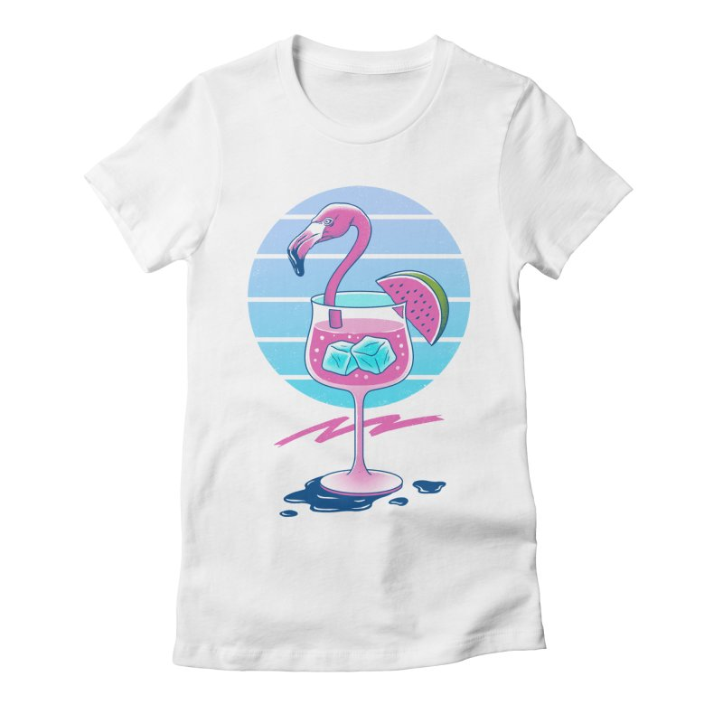 Tropical Chill Wave Women's Fitted T-Shirt by Vincent Trinidad Art