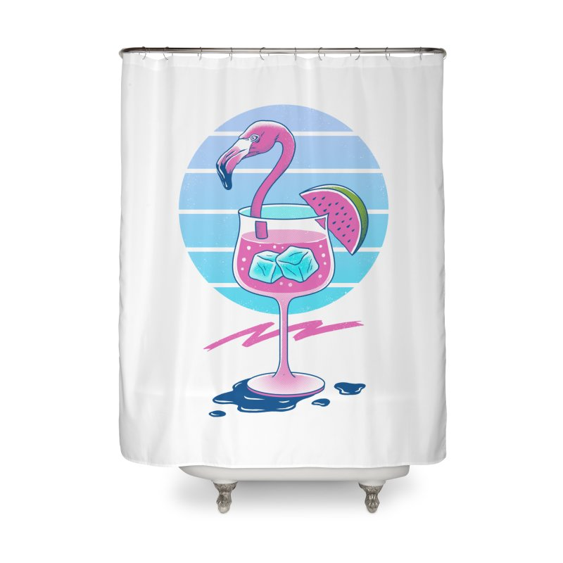 Tropical Chill Wave Home Shower Curtain by Vincent Trinidad Art