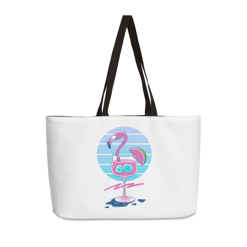 Tropical Chill Wave Accessories Weekender Bag Bag by Vincent Trinidad Art