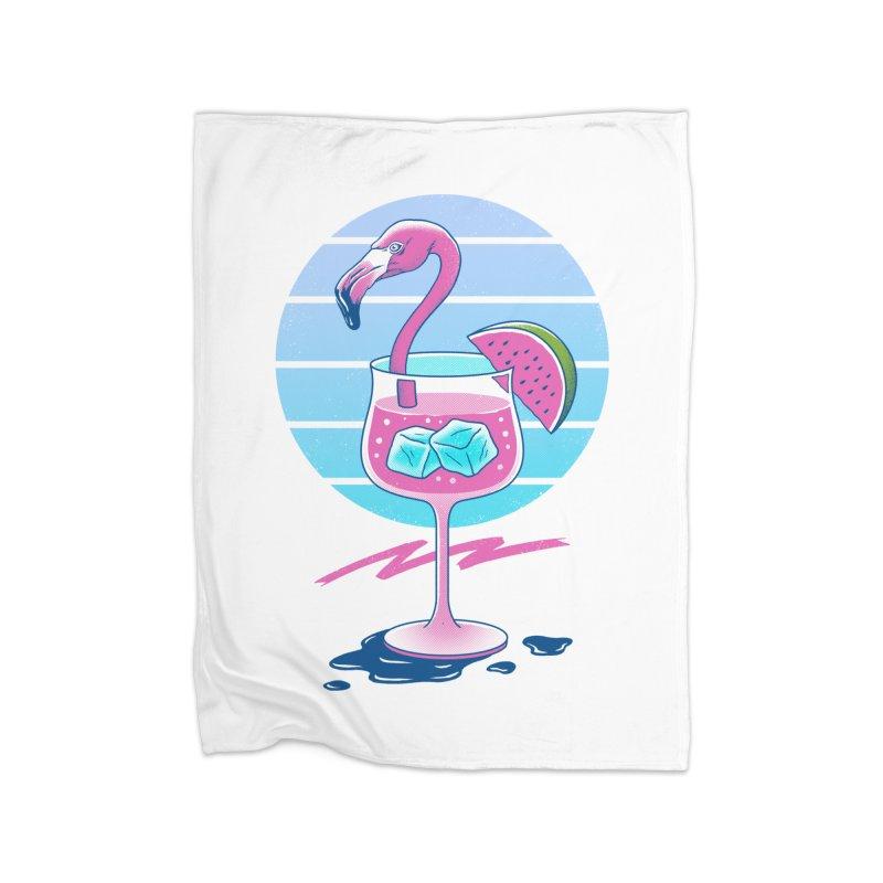 Tropical Chill Wave Home Fleece Blanket Blanket by Vincent Trinidad Art