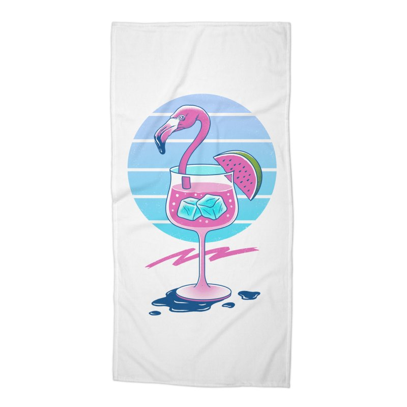 Tropical Chill Wave Accessories Beach Towel by Vincent Trinidad Art