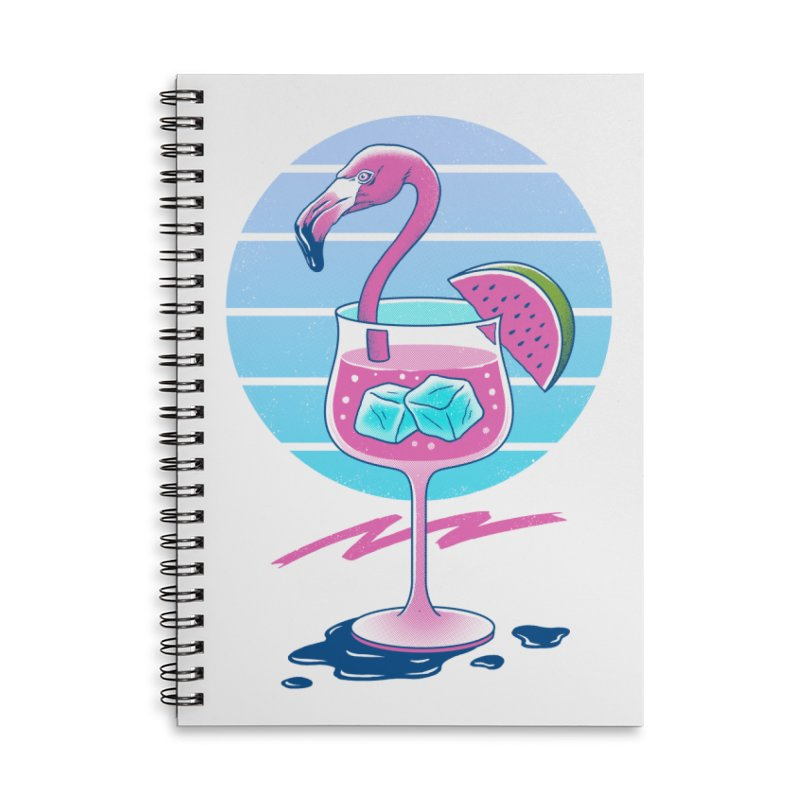 Tropical Chill Wave Accessories Lined Spiral Notebook by Vincent Trinidad Art