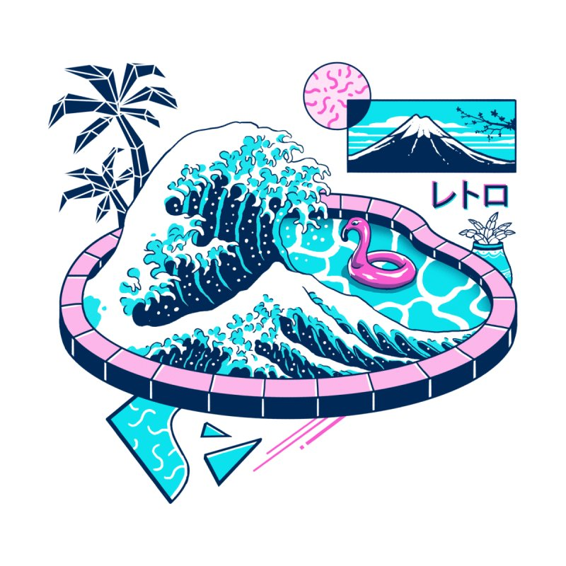 Vapor Wave Pool by Vincent Trinidad Art