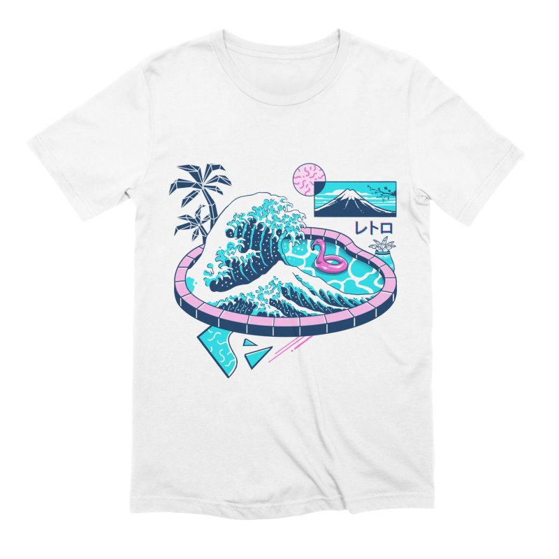 Vapor Wave Pool in Men's Extra Soft T-Shirt White by Vincent Trinidad Art