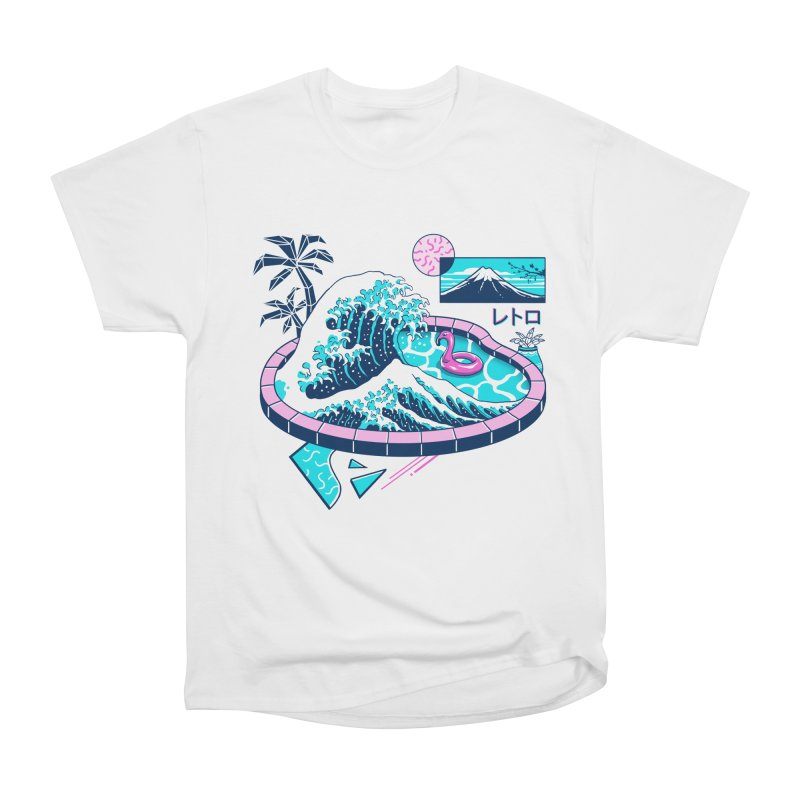 Vapor Wave Pool Women's Heavyweight Unisex T-Shirt by Vincent Trinidad Art