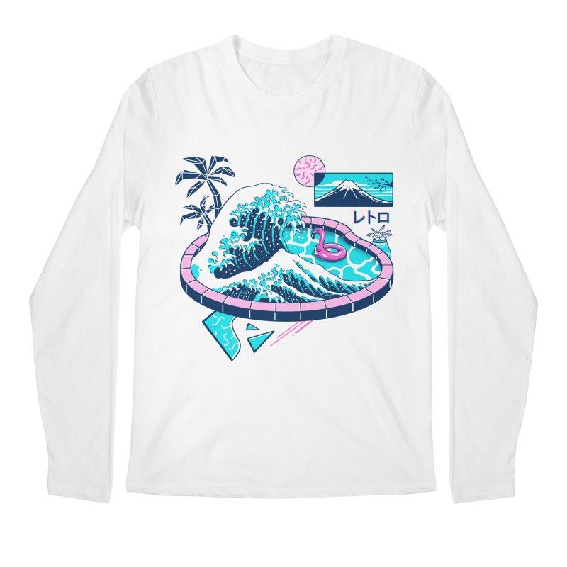 Vapor Wave Pool Men's Regular Longsleeve T-Shirt by Vincent Trinidad Art