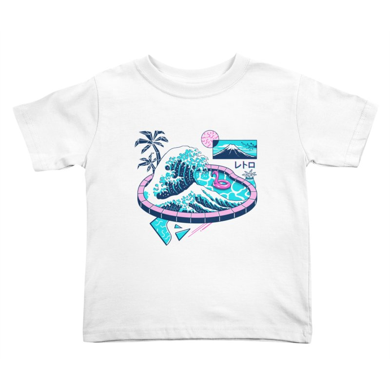 Vapor Wave Pool Kids Toddler T-Shirt by Vincent Trinidad Art