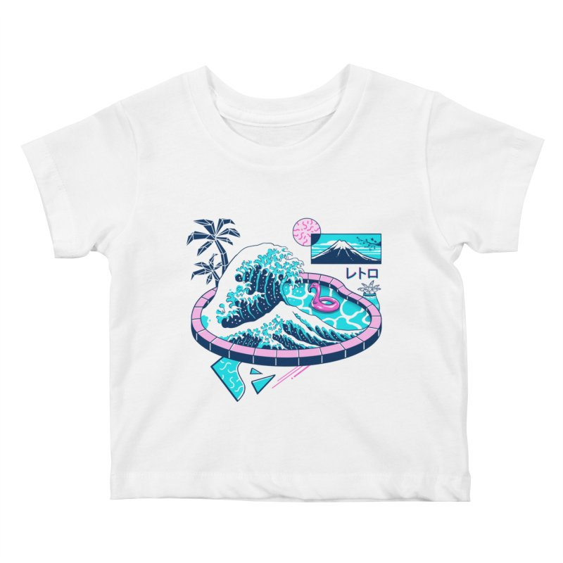 Vapor Wave Pool Kids Baby T-Shirt by Vincent Trinidad Art