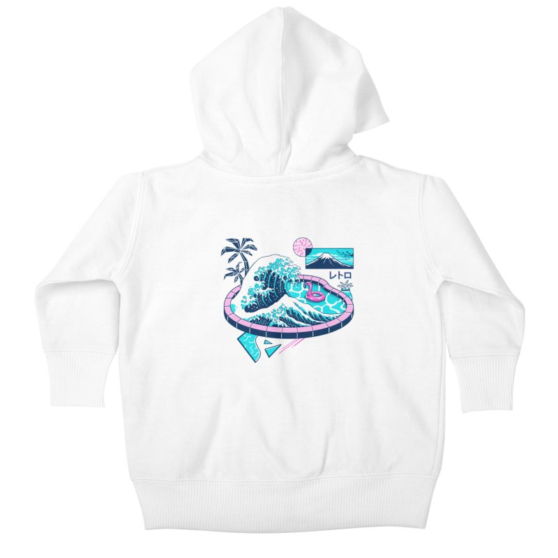 Vapor Wave Pool Kids Baby Zip-Up Hoody by Vincent Trinidad Art