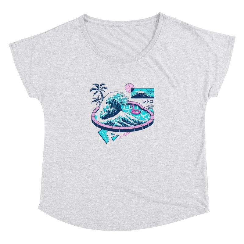 Vapor Wave Pool Women's Dolman Scoop Neck by Vincent Trinidad Art