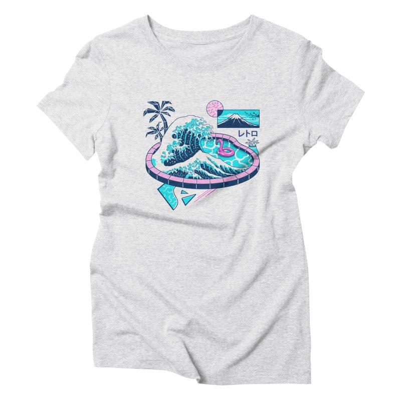 Vapor Wave Pool Women's Triblend T-Shirt by Vincent Trinidad Art