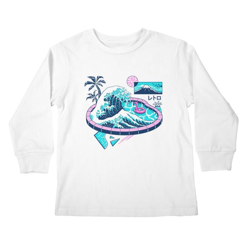 Vapor Wave Pool Kids Longsleeve T-Shirt by Vincent Trinidad Art
