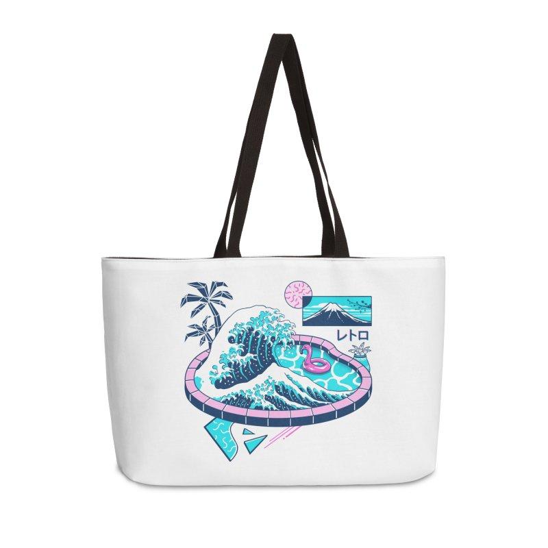 Vapor Wave Pool Accessories Weekender Bag Bag by Vincent Trinidad Art