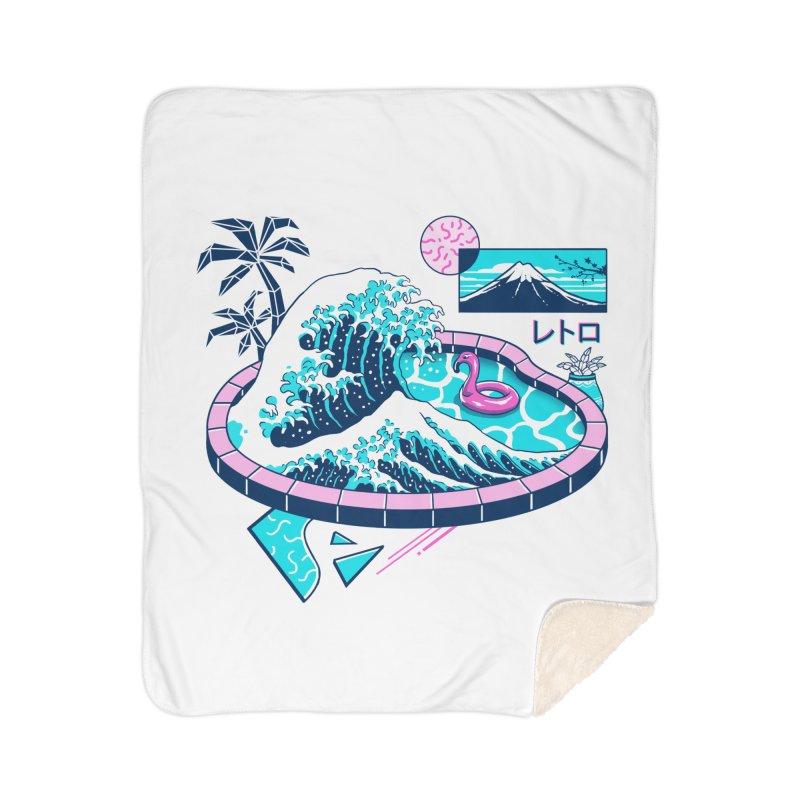 Vapor Wave Pool Home Sherpa Blanket Blanket by Vincent Trinidad Art