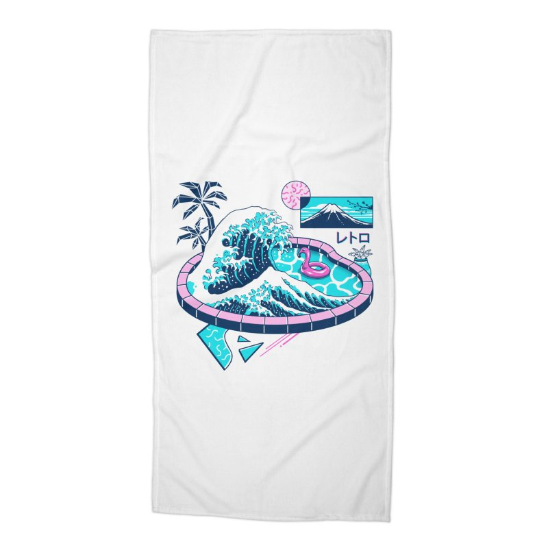 Vapor Wave Pool Accessories Beach Towel by Vincent Trinidad Art
