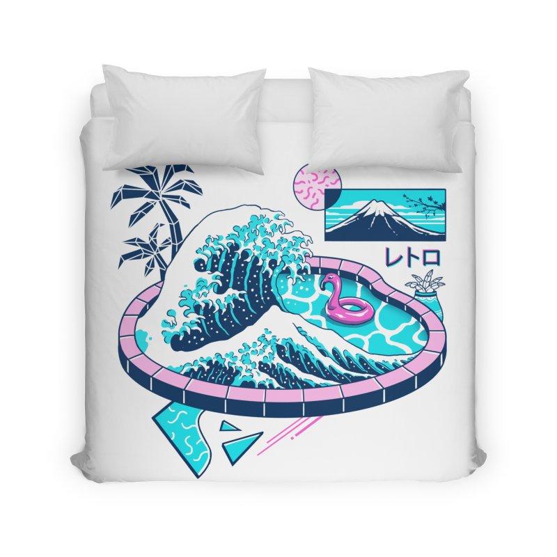 Vapor Wave Pool Home Duvet by Vincent Trinidad Art