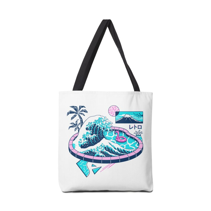 Vapor Wave Pool Accessories Tote Bag Bag by Vincent Trinidad Art